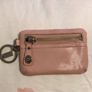 Coach pink coin purse